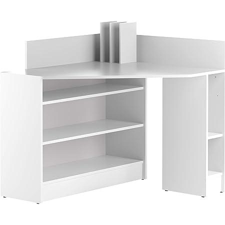 Marque Amazon -Movian Ulla - Bureau d'angle, 94x94x98.6cm (longueurxprofondeurxhauteur), Blanc