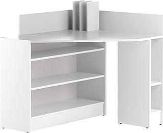 Marca Amazon -Movian Ulla - Escritorio esquinero 94 x 94 x 98.6cm (largo x ancho x alto) blanco