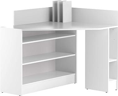 Marchio Amazon -Movian Ulla - Scrivania angolare, 94 x 94 x 98.6 cm (L x P x A), colore bianco