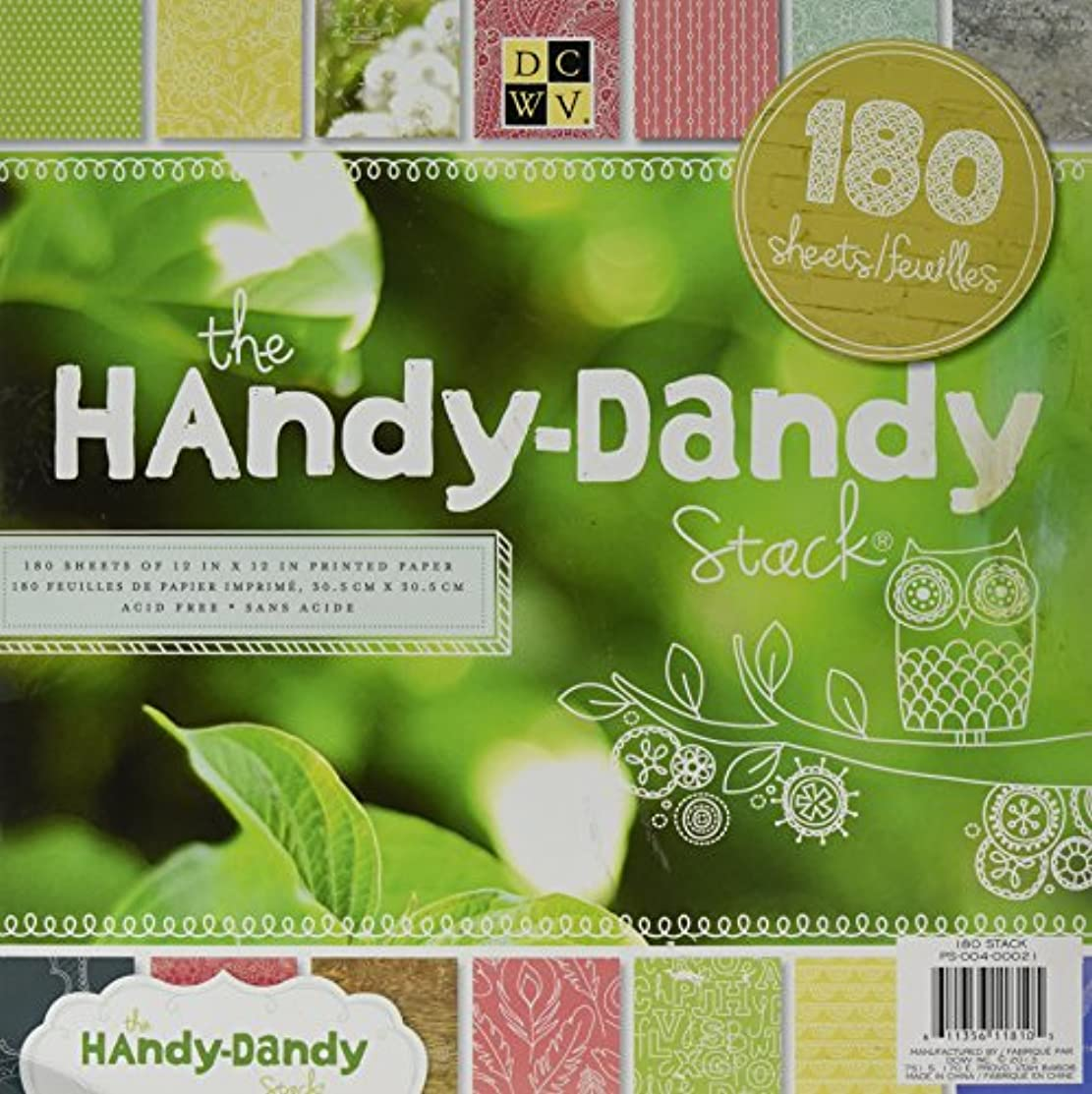 American Crafts 12 x 12 Inch Handy Dandy 180 Sheets Die Cuts with a View Stacks, 12
