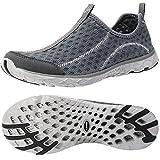 ALEADER Men's Mesh Slip On Water Shoes Dark Gray 12 D(M) US