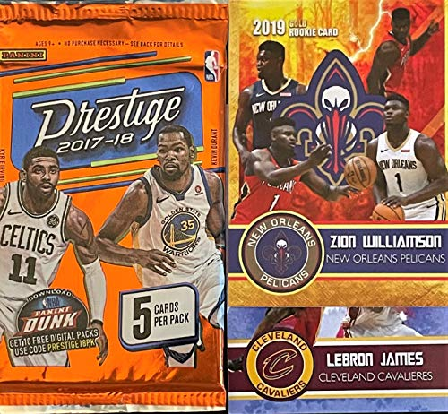 2017-18 Panini PRESTIGE Factory Sealed Basketball Card PACK - Look for Rookie Cards of Donovan Mitchell, Jayson Tatum, De