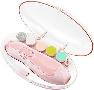 پرونده ناخن کودک Zooawa ، ابزار ایمن لوازم جانبی ناخن برقی ، لوازم آرایشی ناخن گیر کلیپ ، لوازم آرایش ناخن مخصوص انگشتان پا ، دارای نور LED ، باتری AA ، صورتی