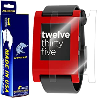 ArmorSuit MilitaryShield - Pebble Smartwatch Screen Protector Anti-Bubble Ultra HD & Touch Responsive Shield with Lifetime Replacements