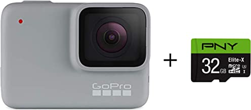 GoPro HERO7 White + PNY Elite-X 32GB microSDHC Card...