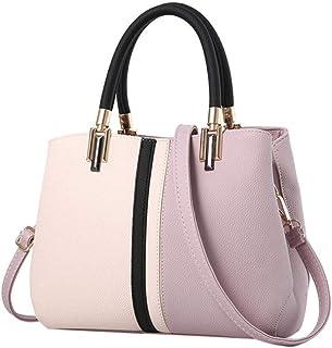 Ladies Fashion Contrast Color Large Capacity Handbag Leisure Panelled Women Shoulder Bag handbag,E,S