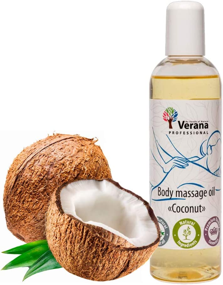 Year-end annual Max 46% OFF account Verana Body Massage Oil Coconut Natural for T Skin Cosmetic All