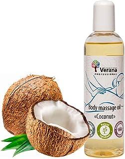 Huile de massage Verana, Coco, Huile cosmétique naturelle pour le corps, Pour tous types de peau, Massage rajeunissant et ...