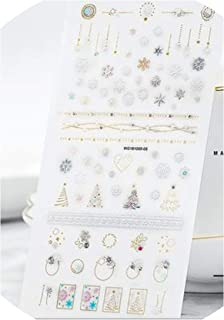 New Fashion 1Sheets 3D Water Decals Nail Art Stickers DIY colorful Fresh star moon Nails Sticker Decorations,05