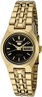 Women's SYMA06K Seiko 5 Automatic Black Dial Gold-Tone Stainless Steel Watch