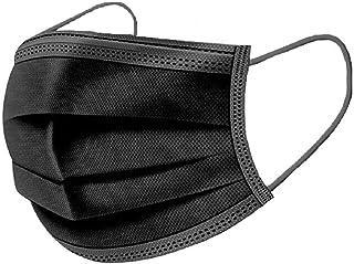 100PIECES Disposable face Mack Black 3-ply Macks