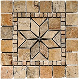 SCABOS 12X12 ASTRAL MEDALLION TUMBLED
