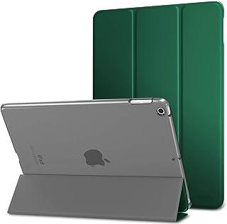 MoKo Compatible con 2018/2017 iPad 9.7 6th/5th Generation Funda Delgado y Ligero Protector con Magnética Función de Cargar/Par y Auto Sueño/Estela - Bosque de Pino Verde