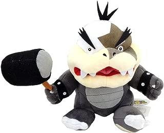 Super Mario Bros Morton Koopa Jr. with Hammer Soft Plush Toy Koopalings Bowser Doll Kids 7.5