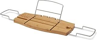 Umbra Aquala, Bamboo and Chrome Extendable Bathtub Tray Caddy, Natural
