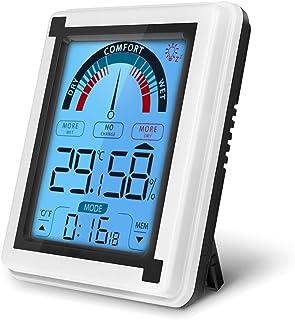 yidenguk Termómetro Higrómetro Digital para Interiores, Medidor de Humedad y Temperatura Interior Termohigrómetro con Pant...