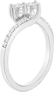 10K White Gold .25ct Two-Stone Diamond Ring (1/4 cttw, H-I Color, I2-I3 Clarity)
