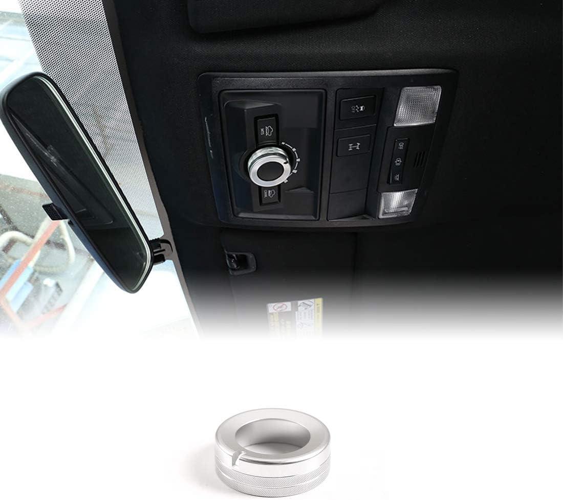 Blue Aluminum Alloy Car Roof Reading Light Knob Ring For Toyota Tacoma