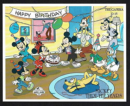 LaVecchiaScatola.com 1989 Gambia Disney Mickey Mouse 60° Anniversario