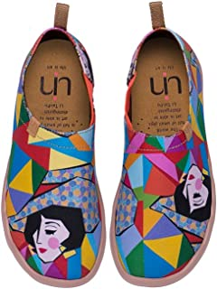 Women's Rainbow Girl Beautiful Travel Canvas Loafer Shoes Multicolor