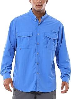 BALEAF Men's Long Sleeve Fishing Shirts UPF 50+ UV Sun Shirt Lightweight Quick Dry Hiking Camping
