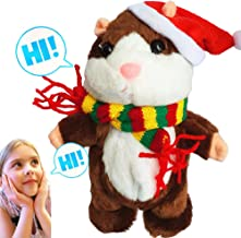 Upgrade Version Talking Hamster Toy Moving and Talking Toys Repeats What You Say Interactive Plush Toys for Boys and Girls