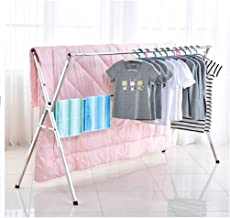 LXLTL Clothes Airer Folding Retractable Drying Racks Indoor and Outdoor Stainless Steel Balcony Expandable Clothes Airer (...