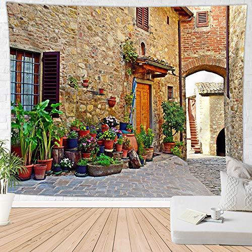 BBAGG Boho European Town Tapestry Tapiz Hippie Mandala Throw Mantas Mat Decoración para el hogar-FGT1727_El 150 * 200cm