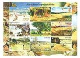 Kunst Briefmarken - Australischer Impressionisten Briefmarken für Briefmarkensammeln - Gemälde von australischen Maler - 9 postfrische Briefmarken auf einem Briefmarkenbogen - Noch nie montiert und frisch