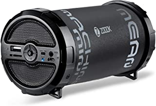 Zoook 5 in 1 Indoor Outdoor Bluetooth Speaker with masculine looks. Supports TF Card,FM Radio,Aux-in .Controls on Board - Black