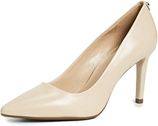 Michael Kors Womens Dorothy Leather Pointed Toe Classic Pumps, Oyster, Size 8.0