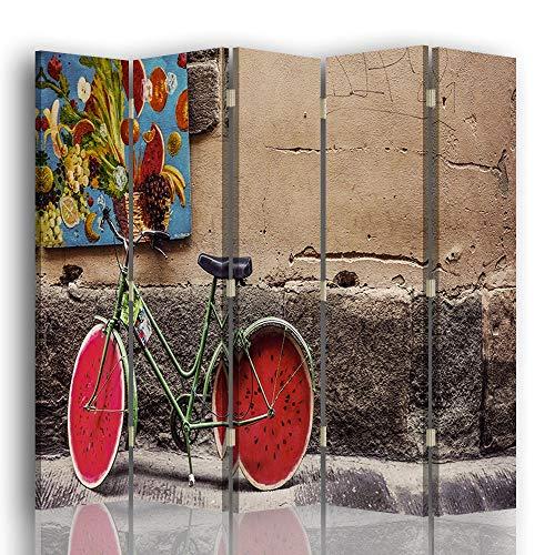 LegendArte Paravento Raumteiler für Innenräume, Frische-Suche, 180 x 180 (5 Panele)