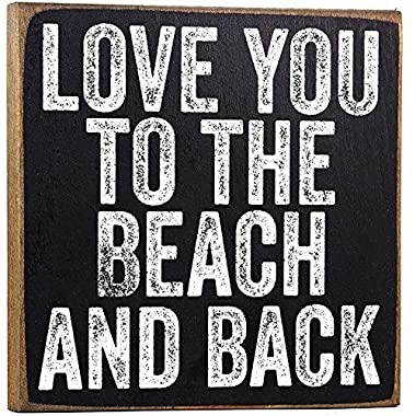 Make Em Laugh Love You to the Beach Wooden Sign