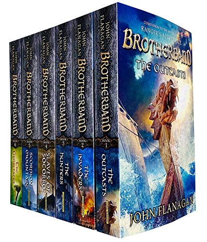 Brotherband Chronicles Series 6 Books Collection Set by John Flanagan (Outcasts, Invaders, Hunters, Slaves of Socorro, Scorpion Mountain & Ghostfaces)