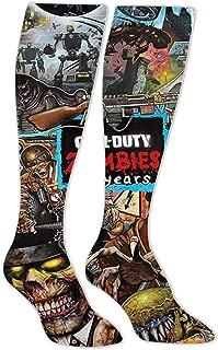8HPP5OTNNE Black Zombie Ops COD Unisex Adult Long Socks Youth 20