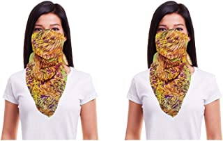Cotton Face Mask Pack of 2 Washable Reusable Printed Designer Scarf Face Masks  Soft Earloop/Mouth Nose cover Face Masks f...