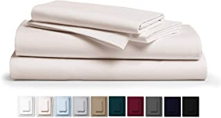 """Kemberly Home Collection 800 Thread Count 100% Pure Egyptian Cotton – Sateen Weave Premium Bed Sheets, 4- Piece Ivory Queen- Size Luxury Sheet Set, Fits mattresses Upto 18"""" deep Pocket"""