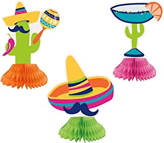 Unique Party 73449 - Mini Boho Fiesta Table Decorations, Pack of 3