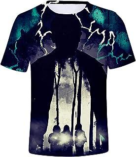 Camiseta Stranger Things Hombre, Camiseta Stranger Things Mujer Unisex Impresión 3D T Shirt Manga Corta Abecedario Impresi...