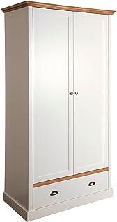 Steens Sandringham Penderie, Bois, Blanc, 58 x 104 x 192 cm