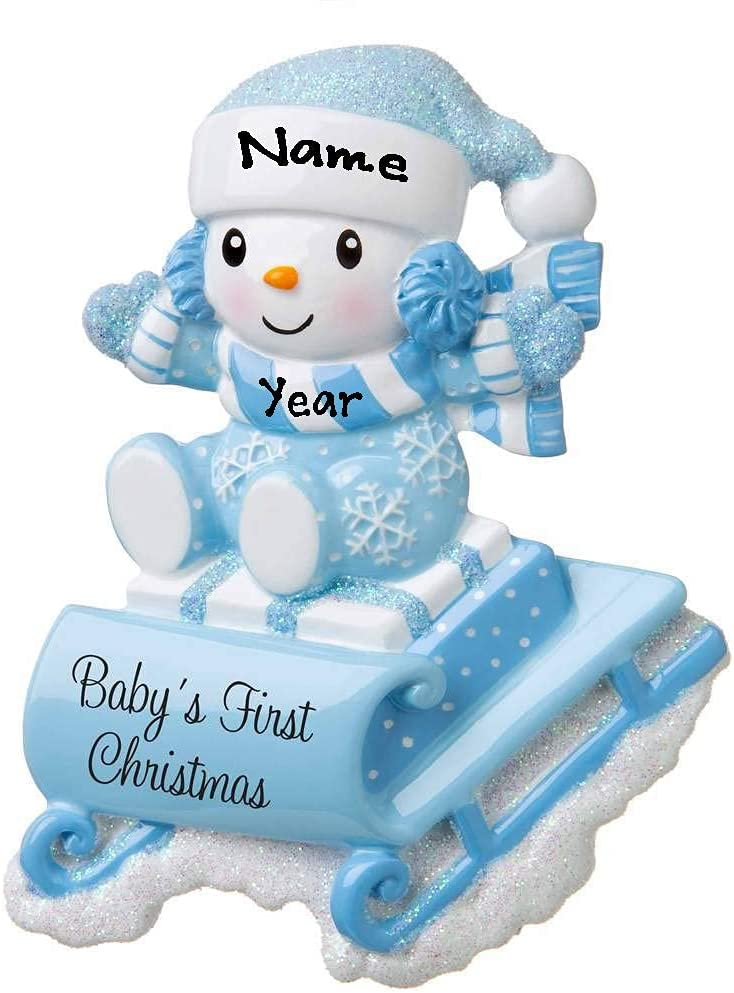 2021 Albuquerque Mall New Snow-Baby on Sled Personalized Max 68% OFF First Sleigh Baby`s Chri