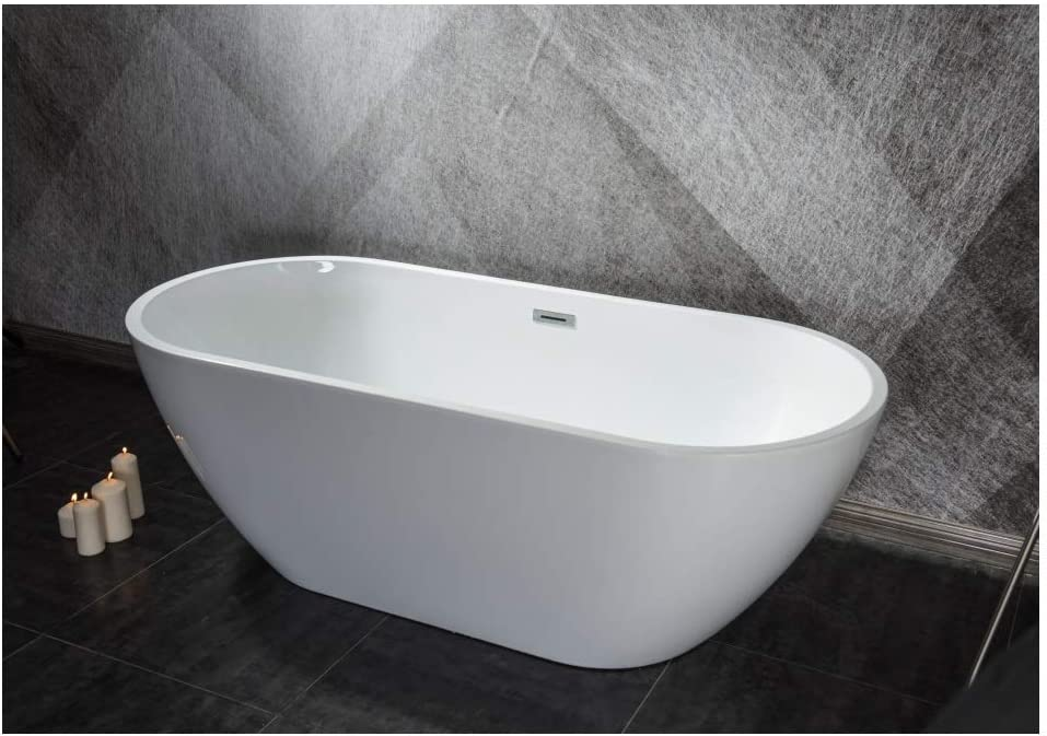 Acrylic Super intense SALE Alcove Freestanding Soaking online shop One-Piece molding Bathtub Te