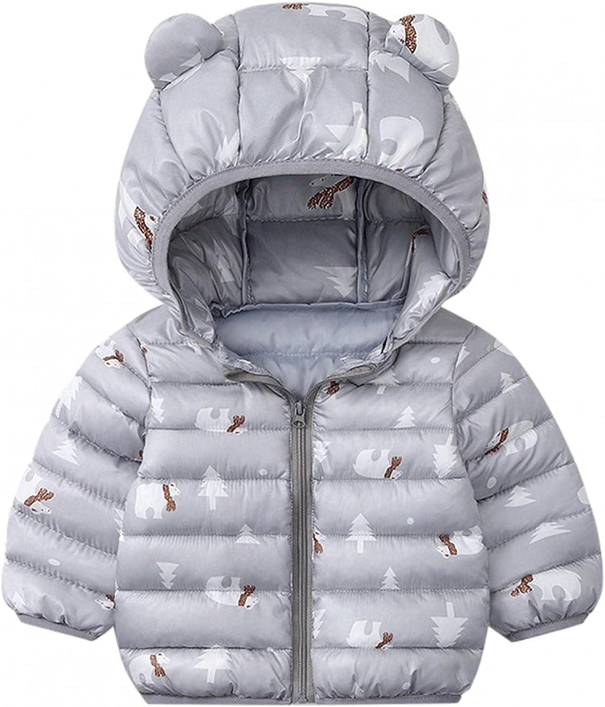 Baby Girls Boys 5% OFF Winter Coats Warm Puffer Hood New arrival Jacket Zipper Down
