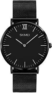TONSHEN Quartz Watch for Women Luxury Business Dress Watch Slim Stainless Steel Case Fashion Casual Wrist Simple Watch for Ladies - Black