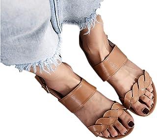 4e65a2b1ca0 Dorical Sandalias Mujer Verano 2019 Planas Zapatillas Moda Retro Mujer  Zapatillas Punta Abierta Zapatillas Mujer Sandalias