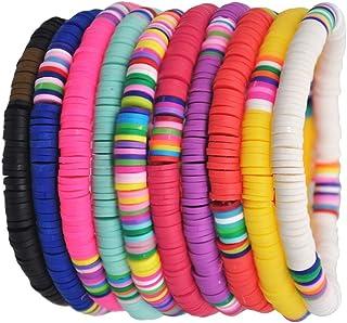 MILISTEN Set di Braccialetti Fatti a Mano con Arcobaleno Colorato Perline di Argilla Polimerica Colorate Perline Bracciali...
