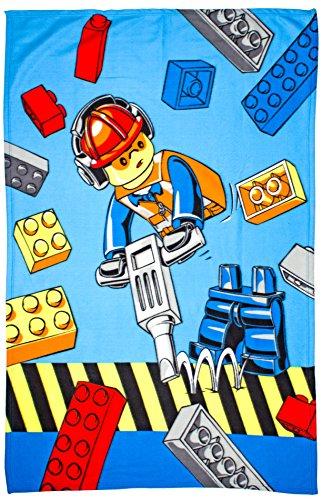 LEGO City-Couverture en Polaire Construction Grand Imprimé