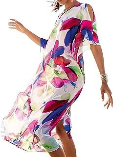 LNQ LUNIQI Women Beach Cover Ups Bathing Long Swim Suits Maxi Turkish Bohemian Kaftan Dress