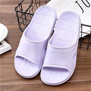 Comfortable/beautiful sandals and slippers Summer men and women EVA foam slippers sand hotel travel slippers indoor outdoor flip flops (Color : Purple)
