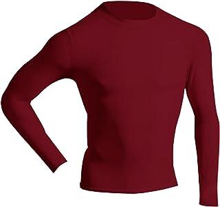 McDavid 884 Men's Long Sleeve Compression Shirt Scarlet Medium